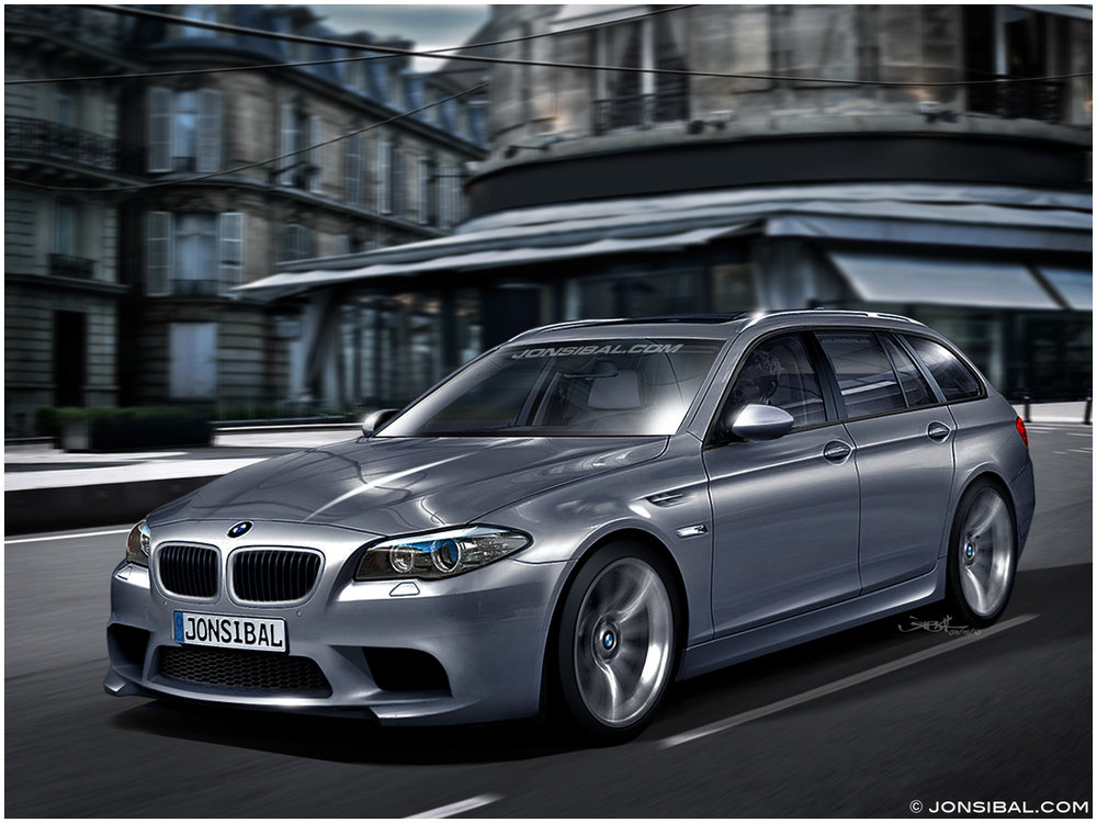 Rendered 2012 Bmw M5 Touring Bmw Auto Cars