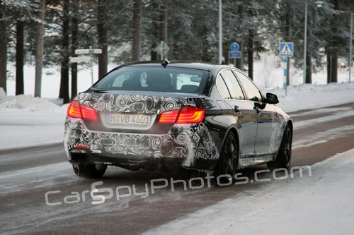 2012 BMW M5 spied winter testing